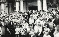 In fata Catedralei din Galati - 12 iunie 1988